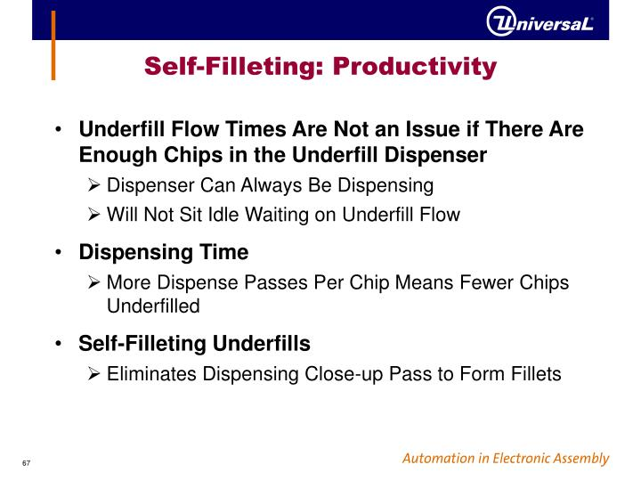 Self-Filleting: Productivity