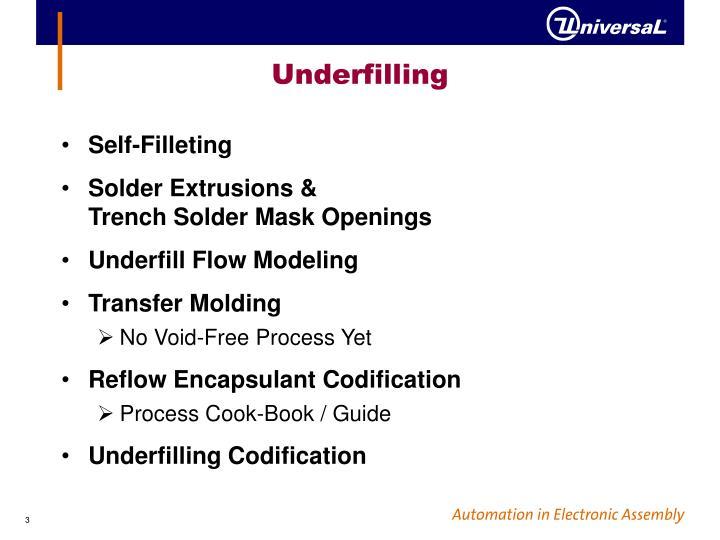 Underfilling