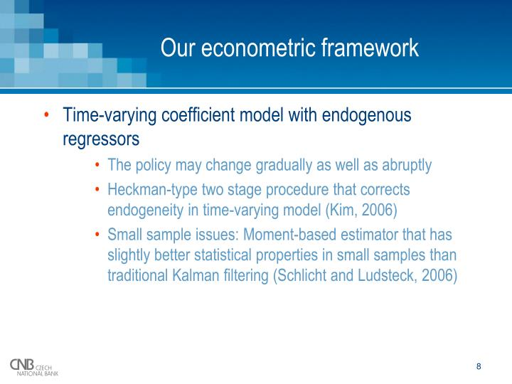 Our econometric framework