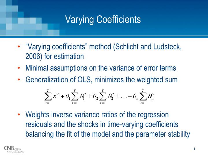 Varying Coefficients