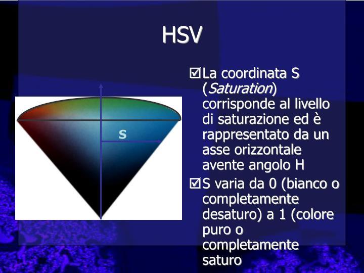 La coordinata S (