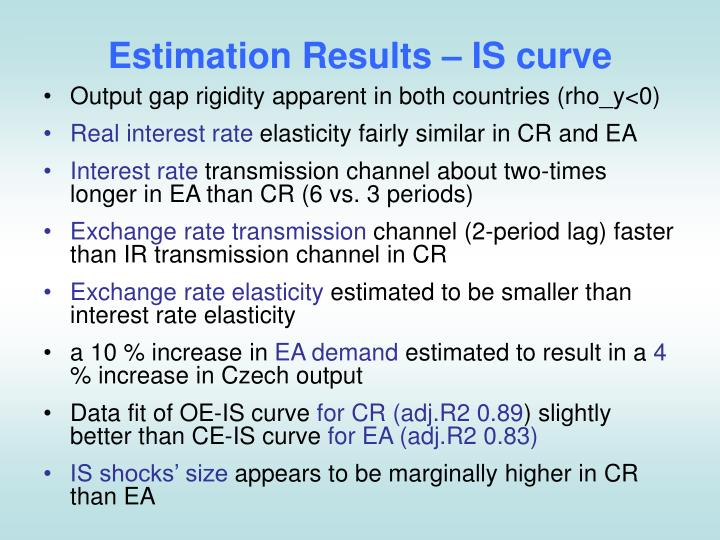 Estimation Results –