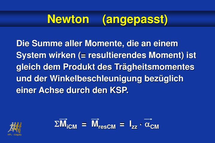 Die Summe aller Momente, die an einem System wirken (= resultierendes Moment) ist gleich dem Produkt des Tr