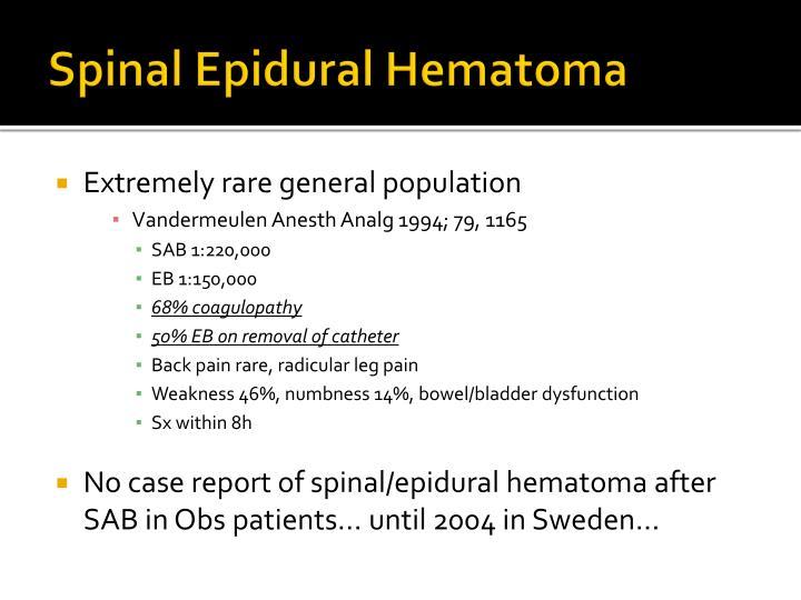 Spinal Epidural