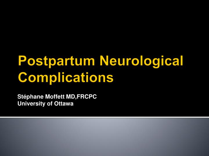 St phane moffett md frcpc university of ottawa