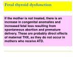 fetal thyroid dysfunction