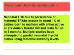 neonatal thyroid dysfunction