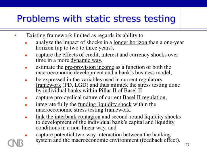 Problems with static stress testing