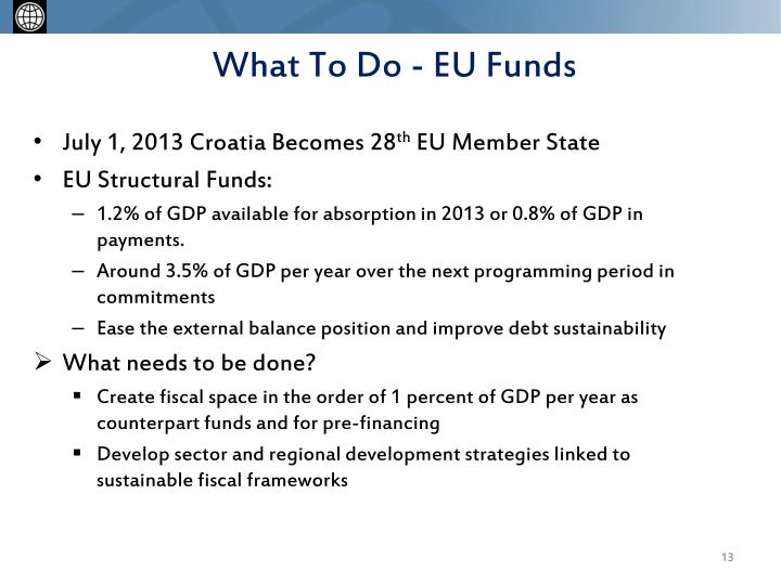 What To Do - EU Funds