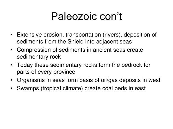 Paleozoic con't