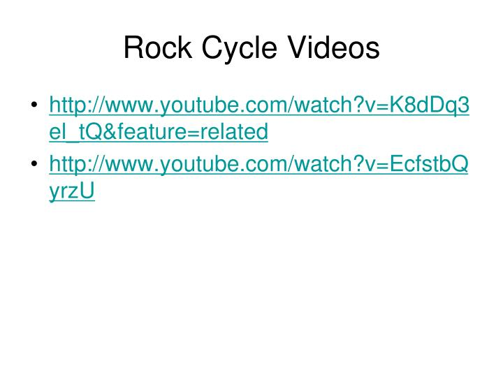 Rock Cycle Videos