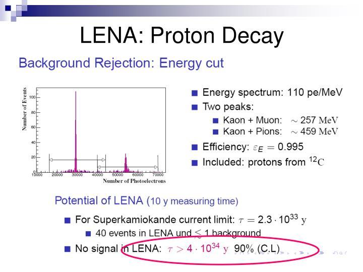 LENA: Proton Decay