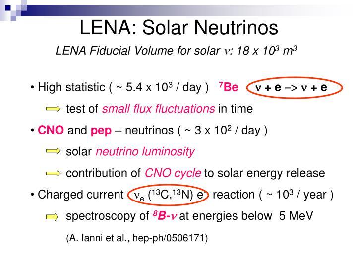 LENA: Solar Neutrinos