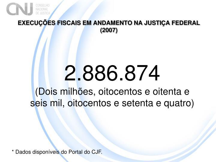 EXECUÇÕES FISCAIS EM ANDAMENTO NA JUSTIÇA FEDERAL