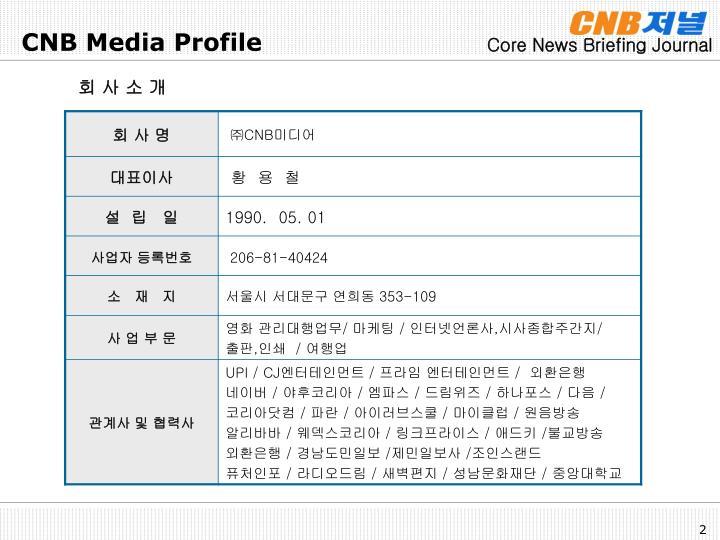 CNB Media Profile