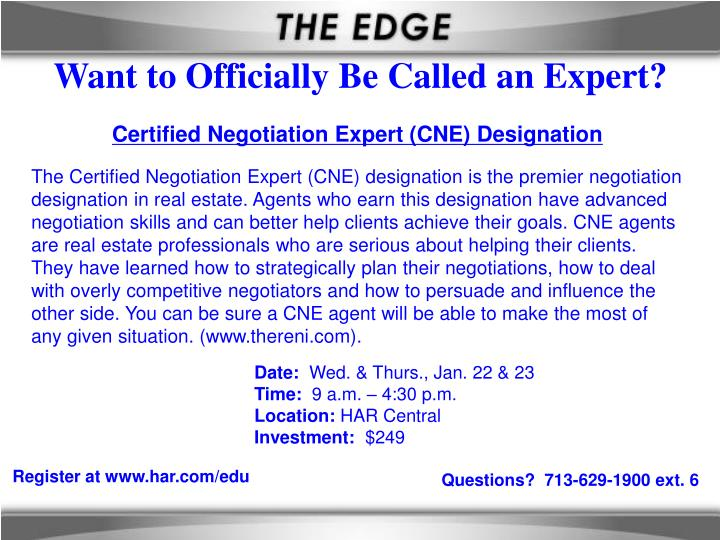 Want to Officially Be Called an Expert?