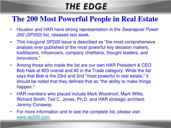 The 200 Most Powerful People in Real Estate