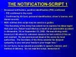 the notification script 1