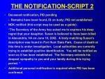the notification script 2