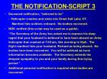 the notification script 3