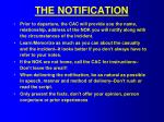 the notification