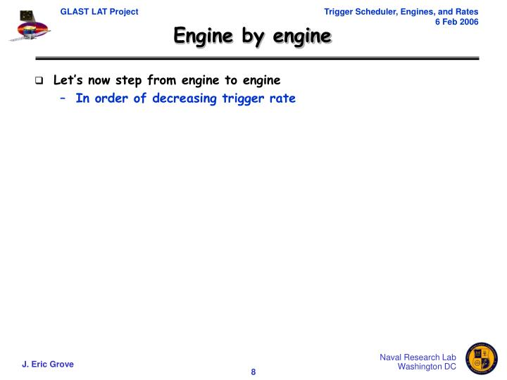 Engine by engine