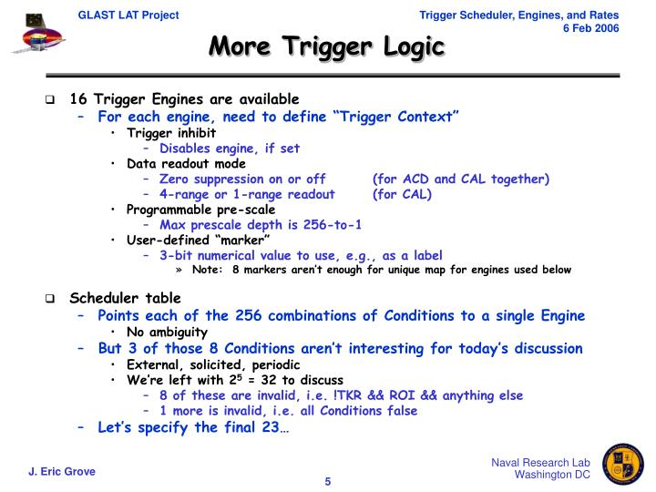 More Trigger Logic