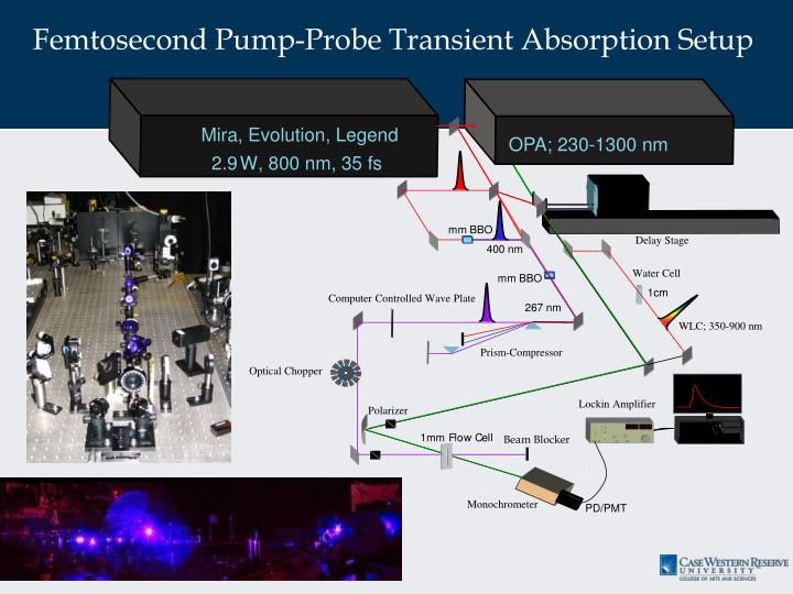 Femtosecond Pump-Probe Transient Absorption Setup