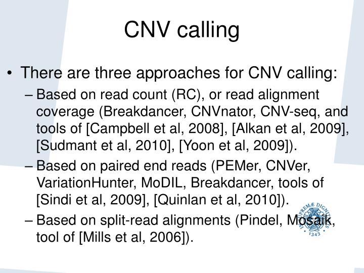CNV calling