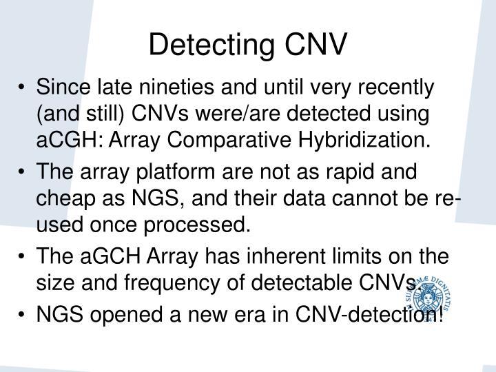 Detecting CNV