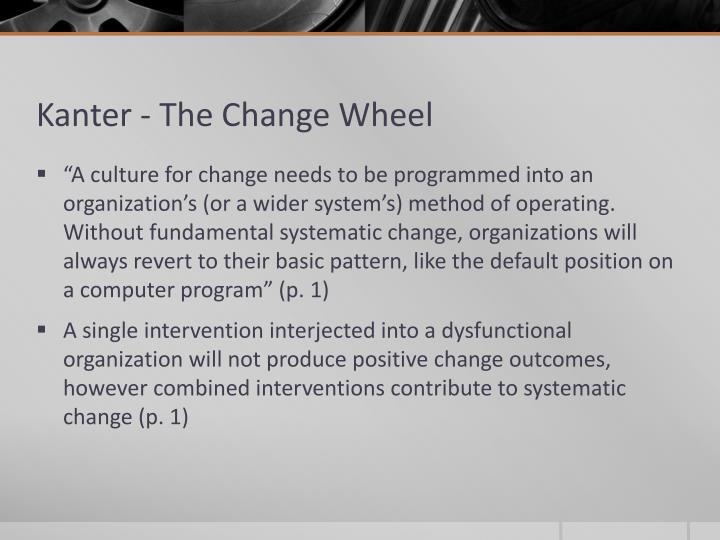 Kanter - The Change Wheel