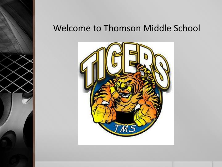 Welcome to Thomson Middle School