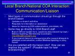 local branch national coa interaction communication liaison2