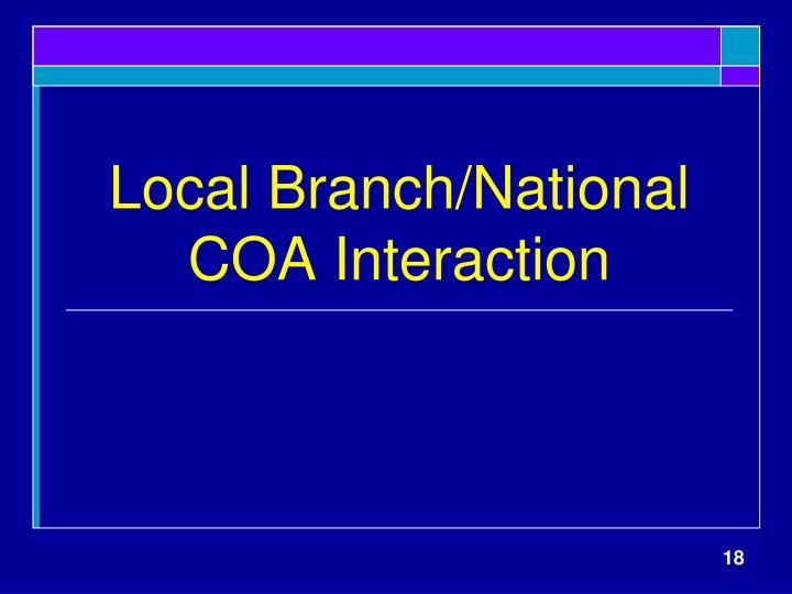 Local Branch/National COA Interaction