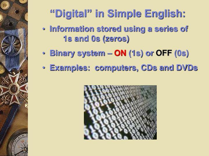 """Digital"" in Simple English:"