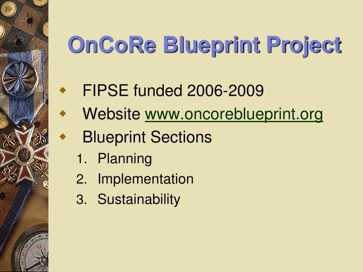 OnCoRe Blueprint Project