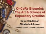 oncore blueprint the art science of repository creation