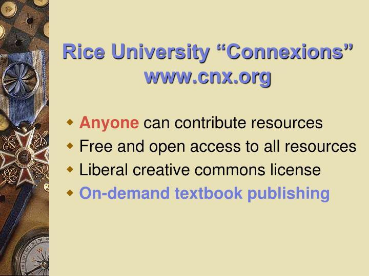 "Rice University ""Connexions"""