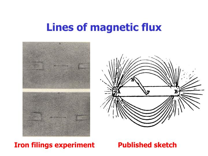 Lines of magnetic flux
