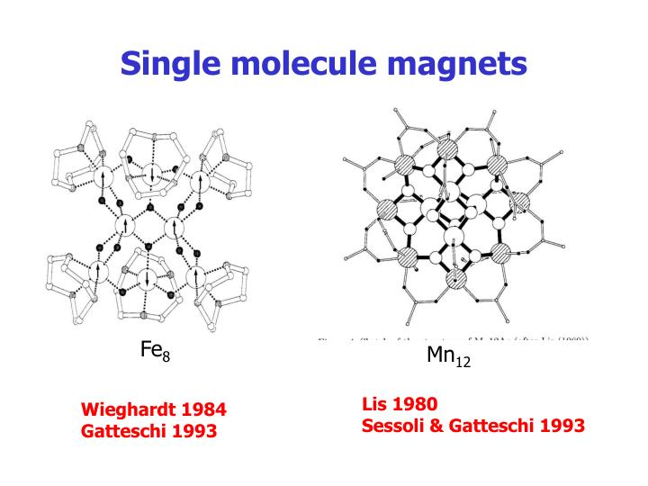 Single molecule magnets