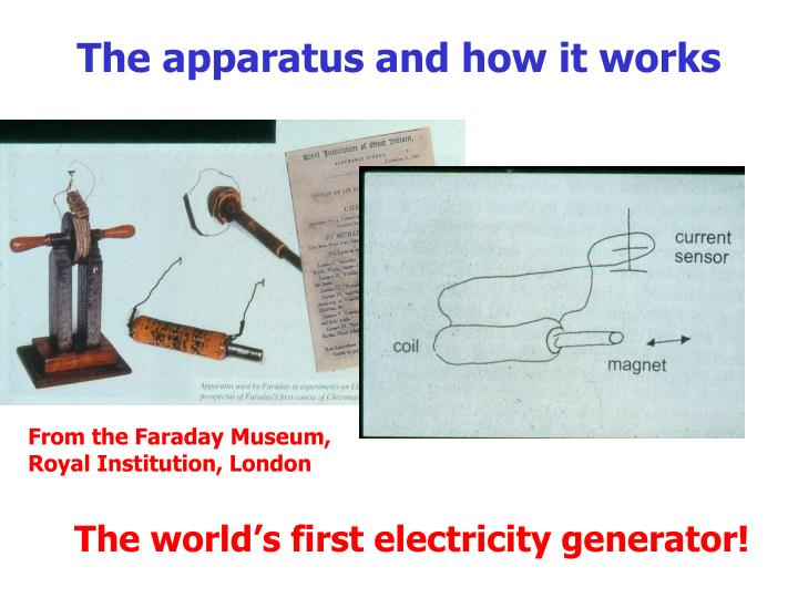 The apparatus and how it works