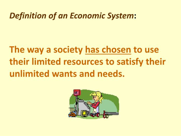 Definition of an Economic System
