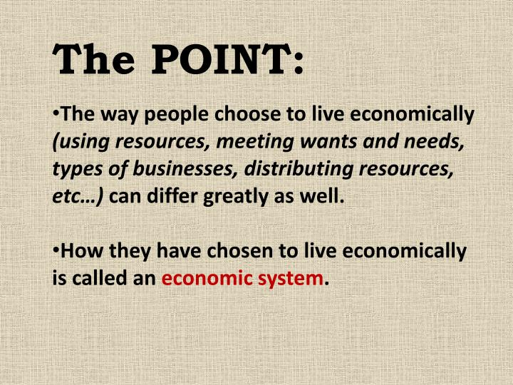 The POINT: