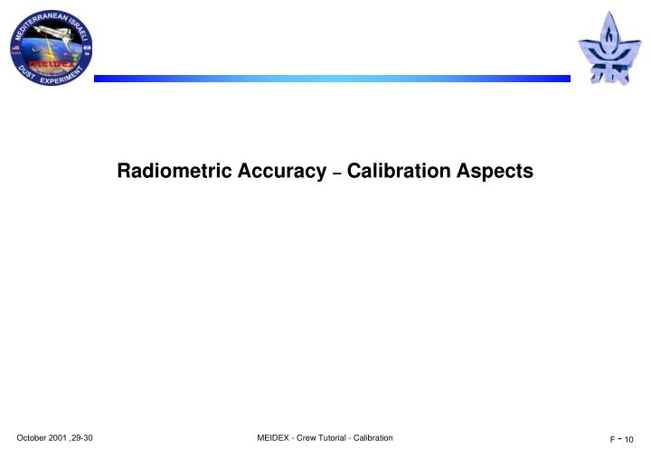 Radiometric Accuracy