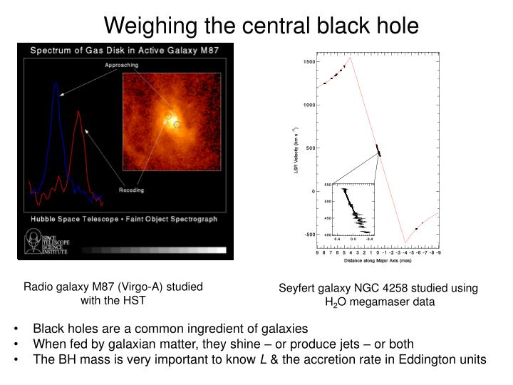 Weighing the central black hole