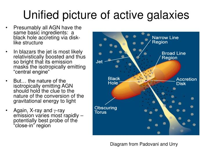 Unified picture of active galaxies