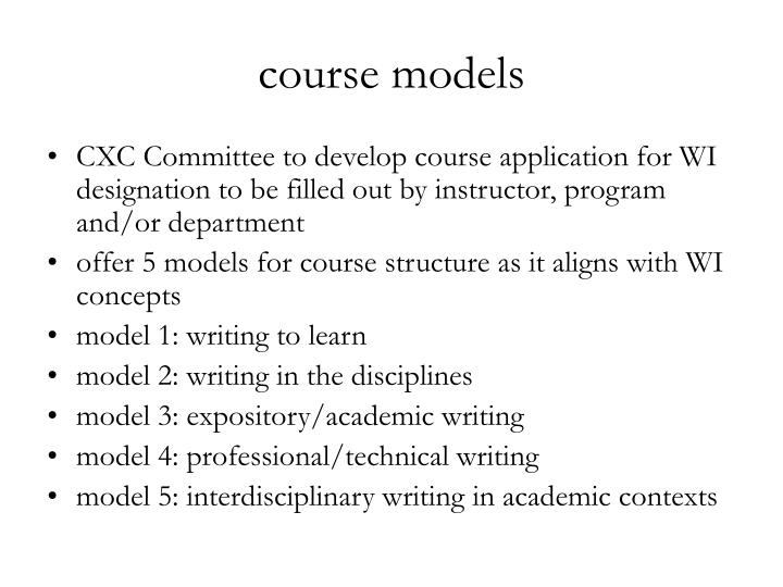 course models