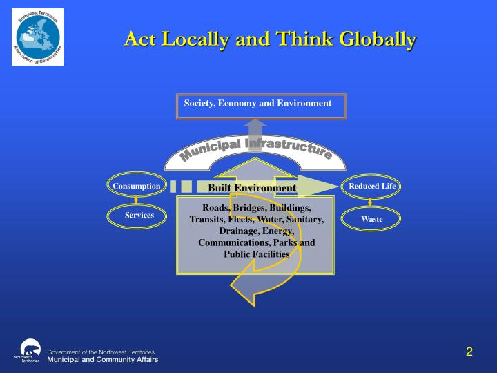 Act locally and think globally