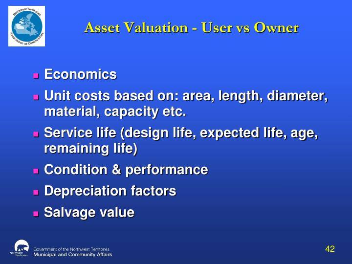 Asset Valuation - User vs Owner