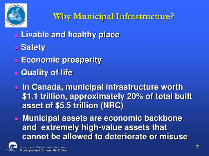 Why Municipal Infrastructure?